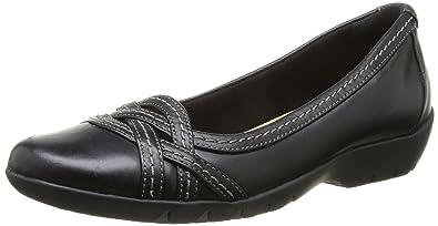 fafa21156e6 Clarks Women s Ordell Tessa Ballet Flats Black Size  3.5  Amazon.co ...