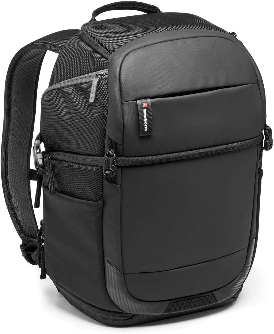Manfrotto MB MA2-BP-FM Advanced²Camera and Laptop Fast Backpack, Double-Sided Access, for DSLR and Mirrorless and Standard Lenses, Convertible Padded Divider System, Tripod Attachment, Coated Fabric