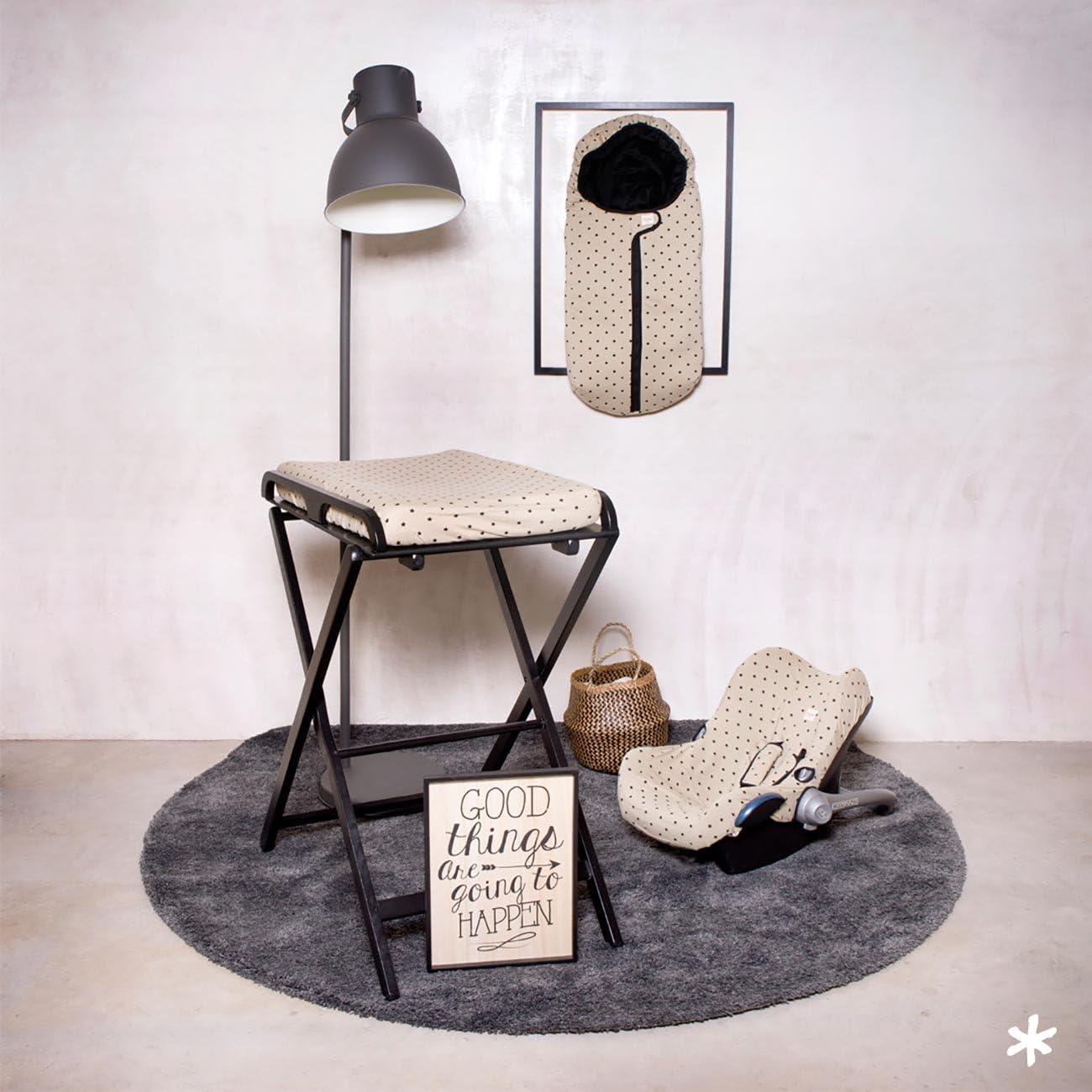 Little Fun Star. F12 Fundas Bcn /® Housse en coton pour matelas /à langer B/éb/é 80x50 cm