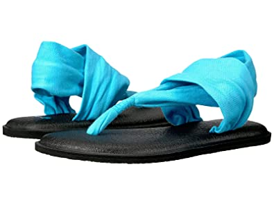 Sanuk Womens Yoga Sling 2 Flip Flop Aqua 7: Amazon.es ...