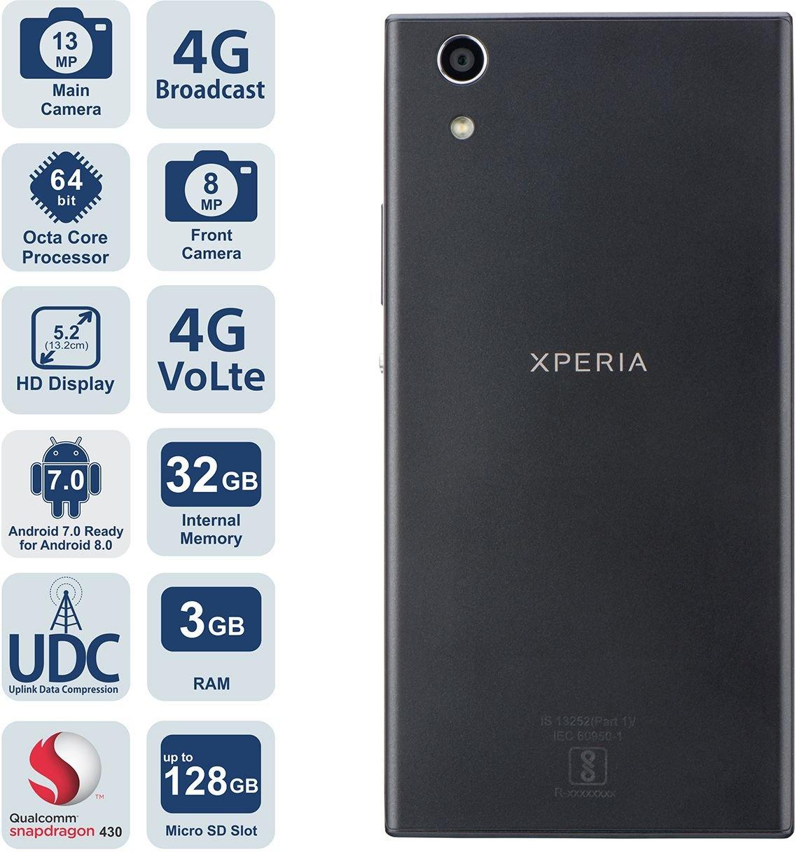 timeless design d56b9 a54a4 Sony Xperia R1 Plus Dual SIM (Black)