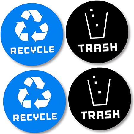 Recycle Sticker Trash Bin Label Decal for Home Kitchen Office Garbage Waste cans
