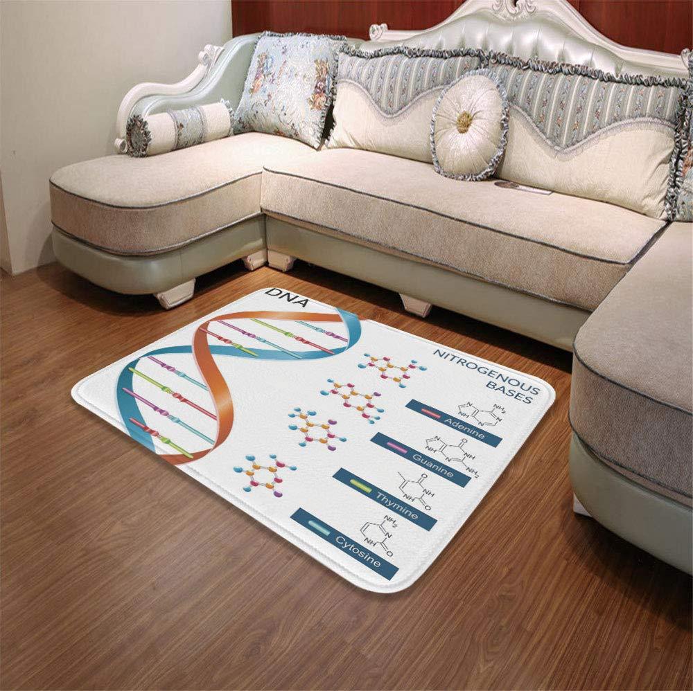 YOLIYANA Custom Carpet,Educational,for Children Bedroom Corridor,55.12'' x78.74'',DNA Bases Chemistry Biochemistry Biotechnology Science