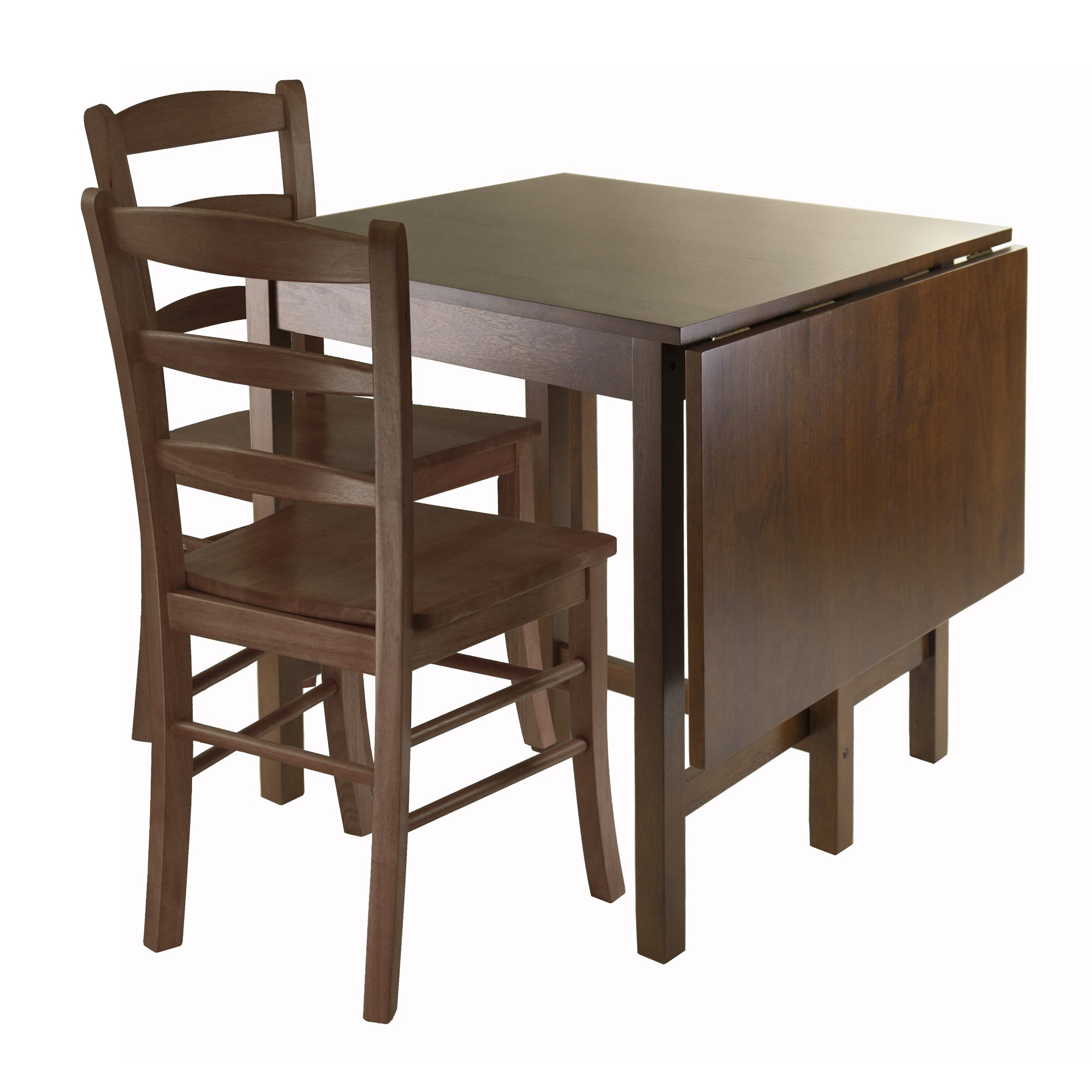 Winsome Lynden 3-Piece Dining Table with 2-Ladder Back Chairs