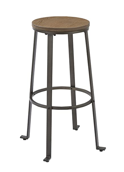 Awe Inspiring Btexpert Industrial Rugged 30 Inch Counter Bar Stool Height Rustic Round Dailytribune Chair Design For Home Dailytribuneorg