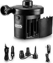 Electric Air Pump, Dr.meter HT-401 Battery Air Mattress Pump Quick-