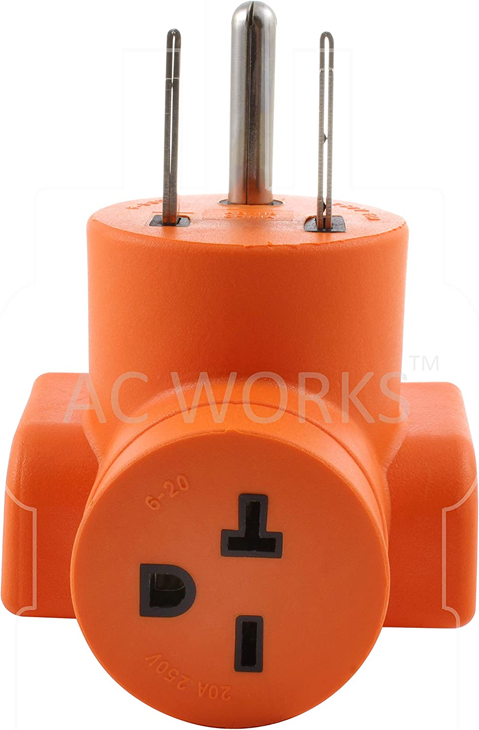 50A NEMA 6-50P to 20A NEMA 6-20R Adapter With 20 Amp Breaker by AC WORKS®