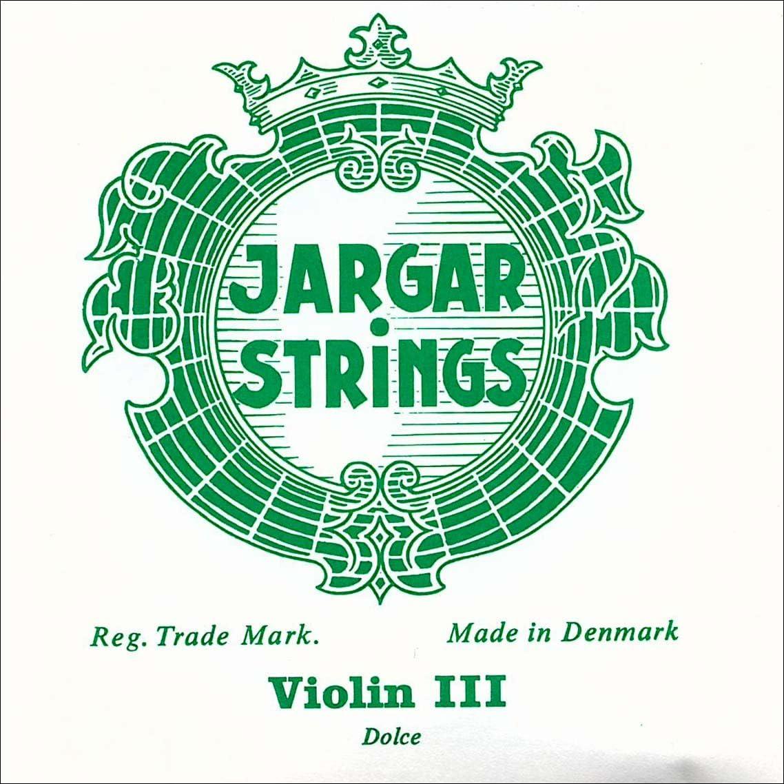 Chromesteel//Steel Dolce Jargar 4//4 Violin D String Thin