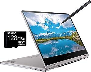 2020 Samsung_Notebook 9 Pro 13 FHD 1080P Touchscreen 2-in-1 Laptop  Intel Core i7-8565U up to 4.6GHz  8GB RAM  2TB SSD  FP Reader  Backlit KB  Win 10 + NexiGo 128GB MicroSD Card Bundle