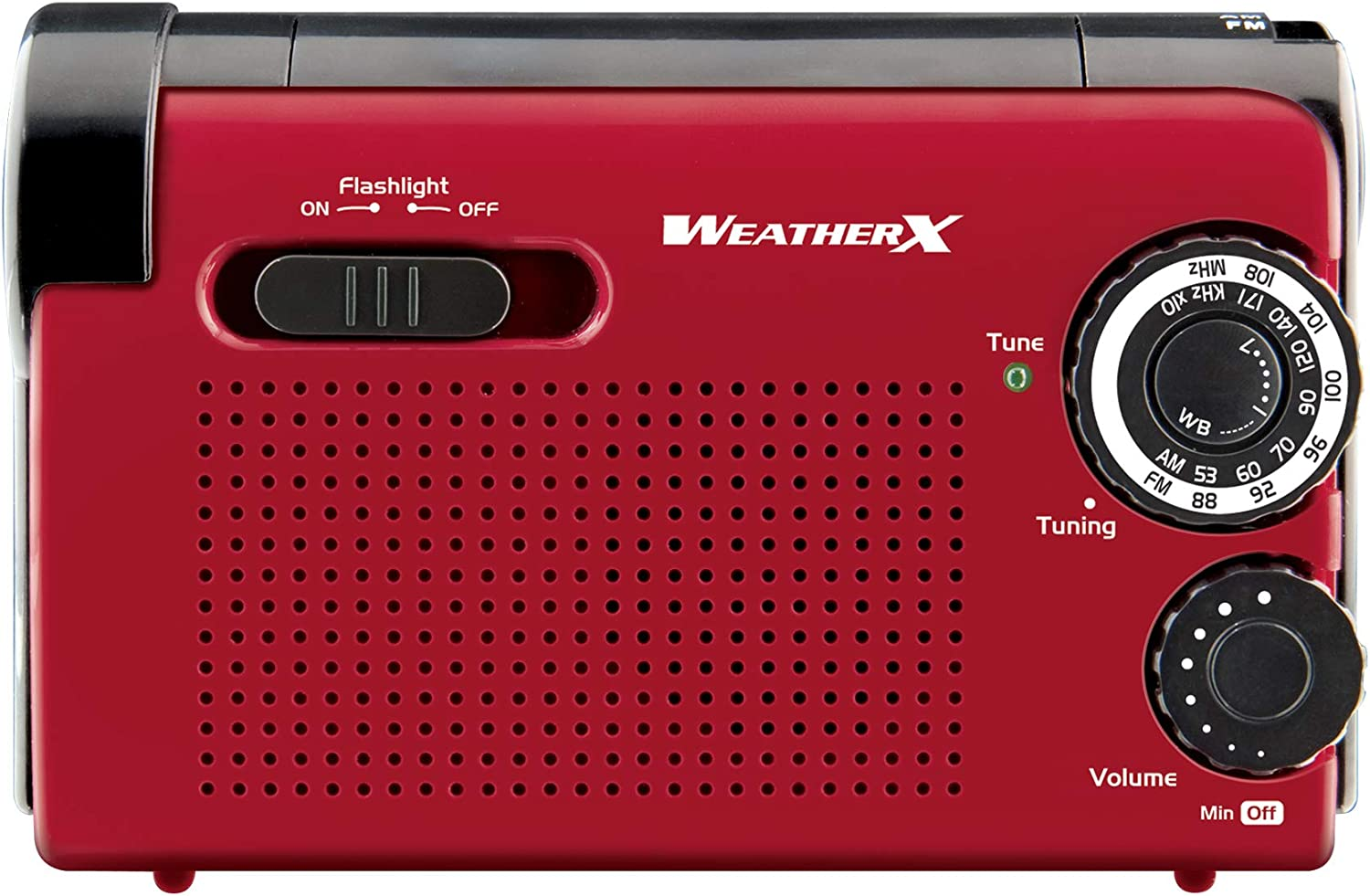 Weather XWR182R NOAA Weather Band and Radio Flashlight with Hand Crank Power