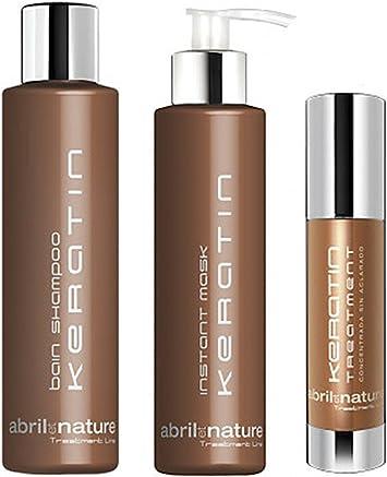 Abril et Nature Pack Keratin Treatment 3 Productos: Amazon.es: Salud y cuidado personal