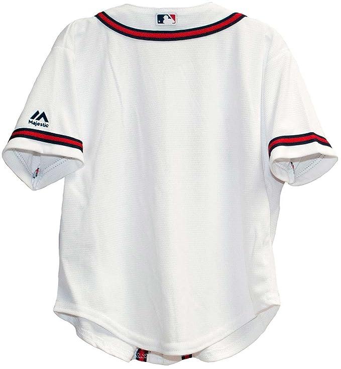 ac5cfedb Amazon.com: Majestic Kid's MLB Atlanta Braves White/Red Baseball Jersey  (Large (7)): Clothing