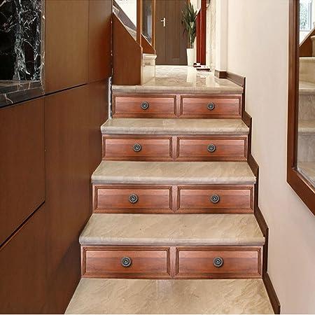 Imitación Azulejo Decoración De La Escalera Pegatinas PVC Papel Autoadhesivo Impermeable No Alice Escaleras Decoración Pegatinas,B-100 * 18cm*1: Amazon.es: Hogar