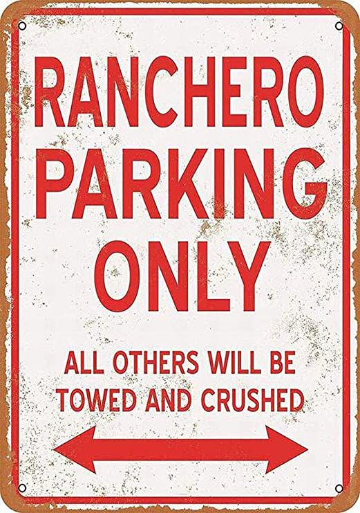 HALEY GAINES Ranchero Parking Only Placa Cartel Póster de ...