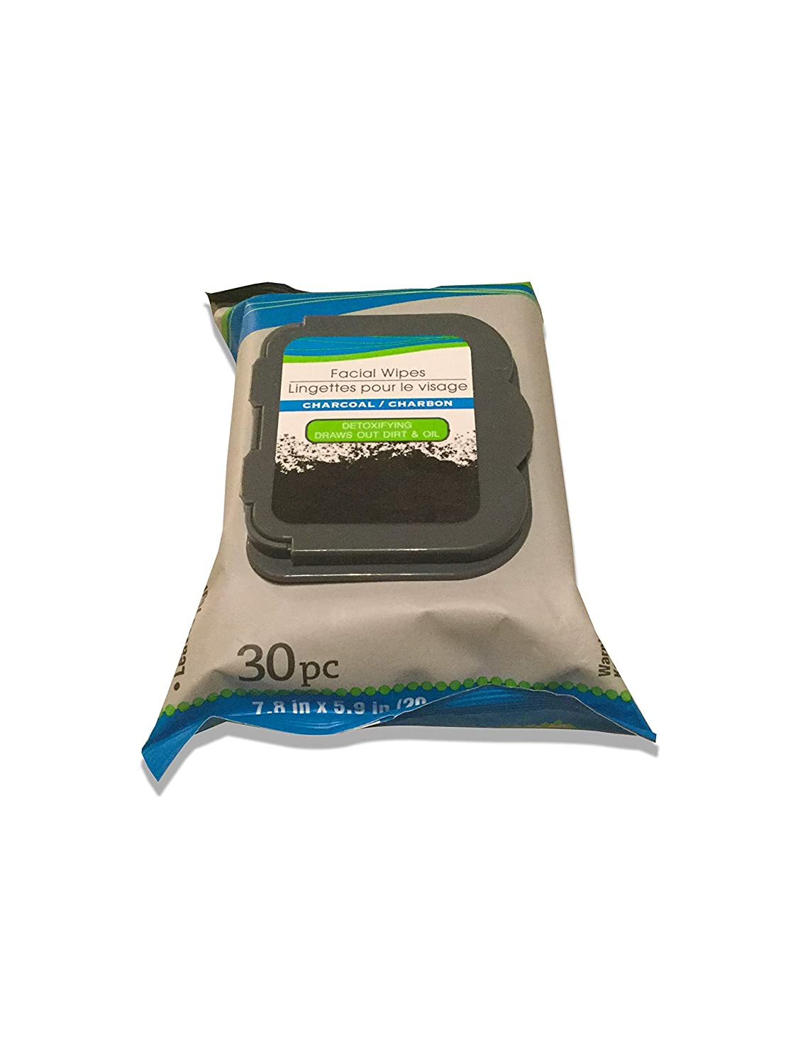 Charcoal Facial Wipes For Cleansing Skin - Detoxifying and Deep Cleansing Facial Wipes - 30 Count