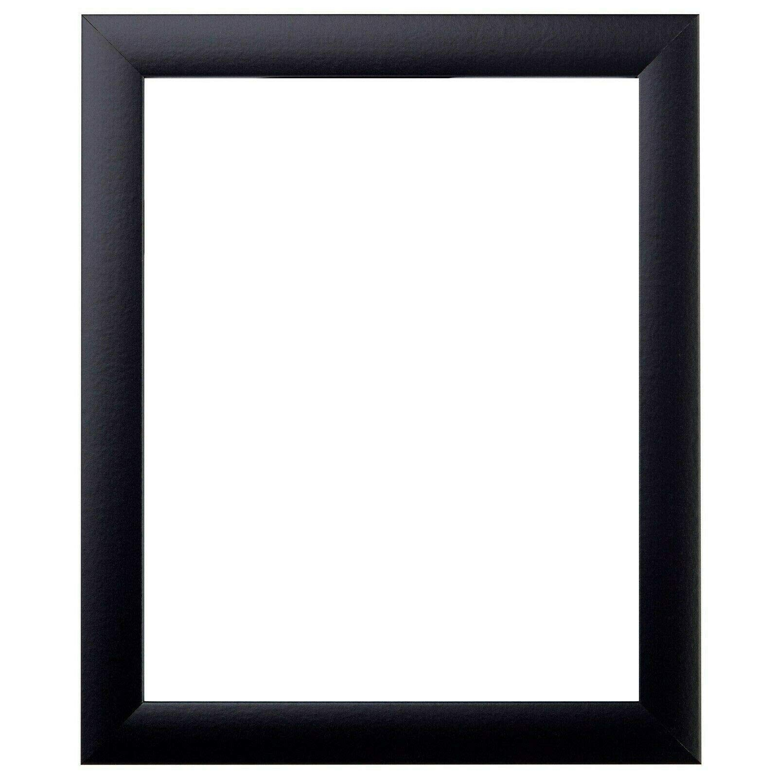 US Art Frames 14x17 Black 1 Inch Flat MDF Wood Composite, Wall Decor Picture or Poster Frame by US Art