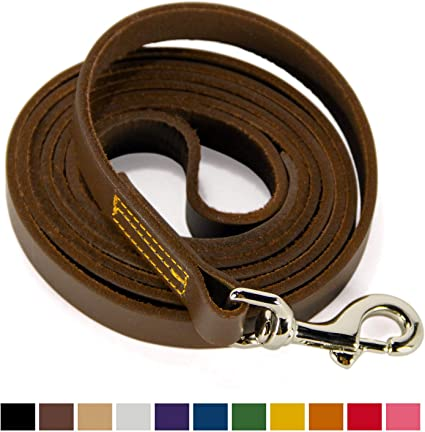 Dog Leash LEATHER Short or Long with Color Choices!!!