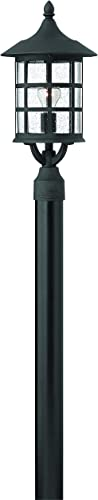 Hinkley 1801BK-LED Transitional One Light Post Top Pier Mount from Freeport collection in Blackfinish,