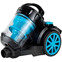 Black+Decker 1800W Bagless Cyclonic Canister Vacuum Cleaner with 6 Stage Filtration, Multi Color - VM2080-B5, 2 Year Warranty