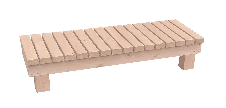 濡れ縁ステップ (踏み台)/板幅65mm 国産杉 間口1190mm×奥行400mm×高さ236mm WB(ホワイトベージュ)色 B075L77BS3 WB(ホワイトベージュ) WB(ホワイトベージュ)
