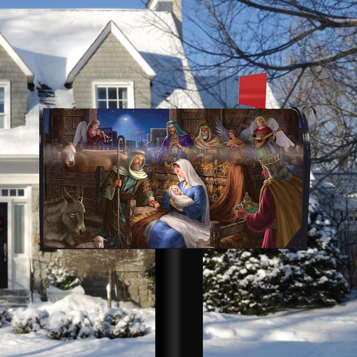 Briarwood Lane Holy Family Christmas Magnetic Mailbox Cover Nativity Standard