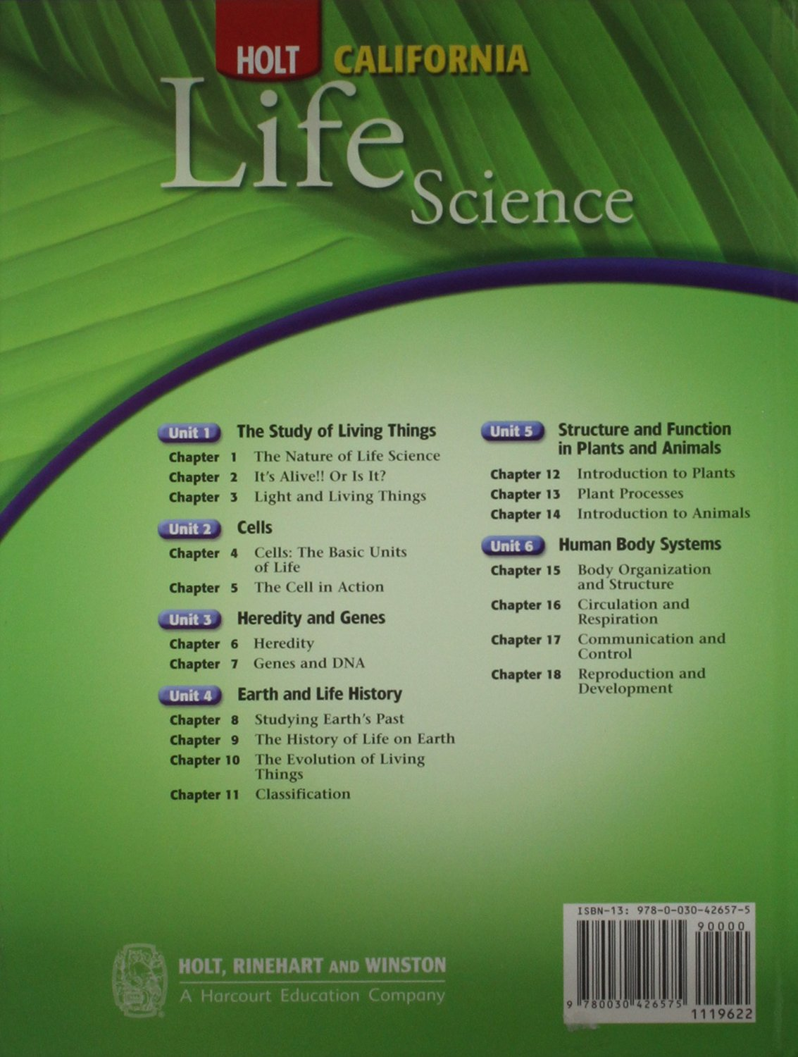 Holt California Life Science (Holt Science & Technology) by HOLT, RINEHART AND WINSTON (Image #2)