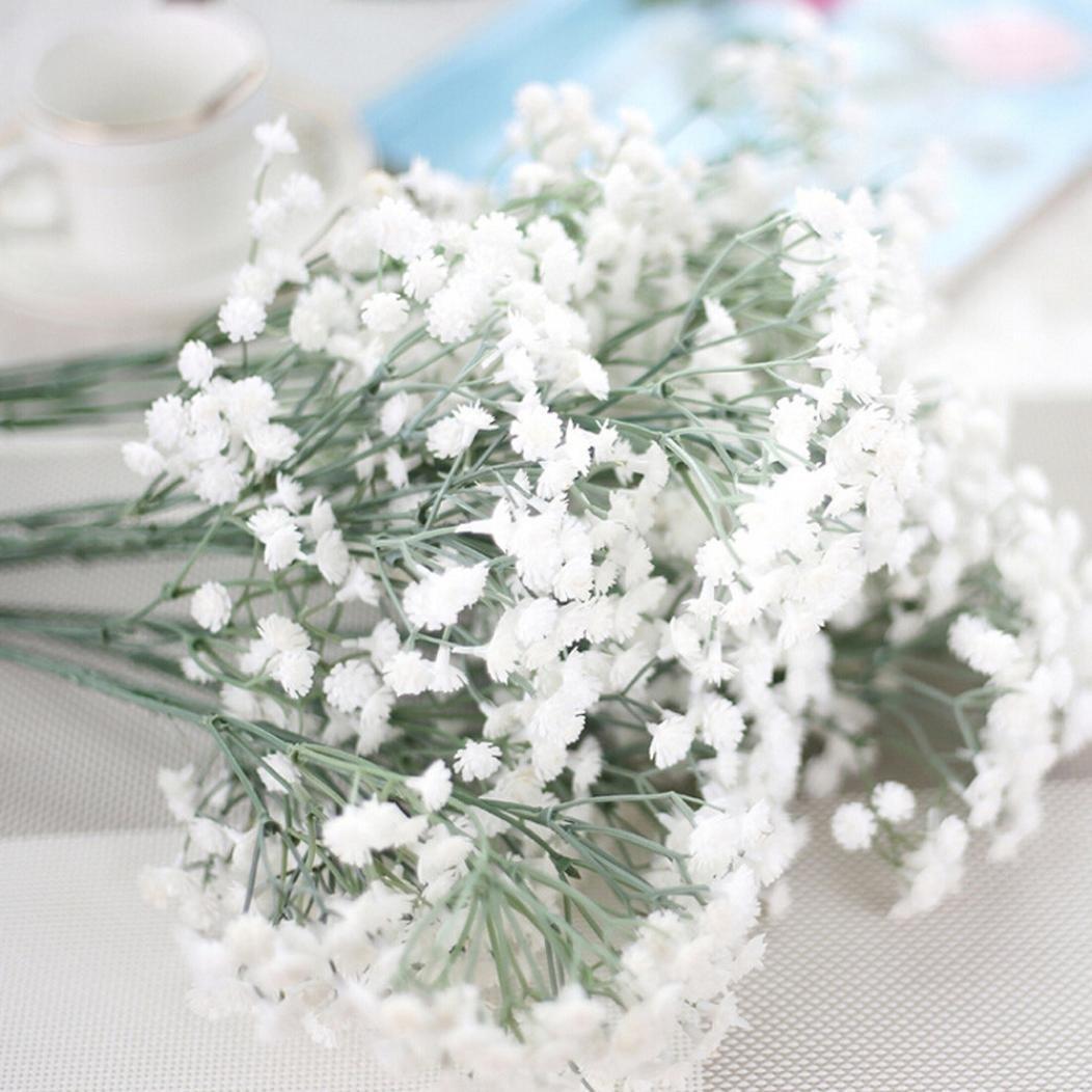 Vacally Artificial Gypsophila Flower Fake Silk Floral Wedding Party Bouquet Home Decor 8 Pcs