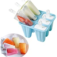 Classic Homemade Ice Pop Molds 6 Easy-release BPA-free Popsicle Molds Shapes Reusable Silicone Frozen Ice Popsicle Maker…