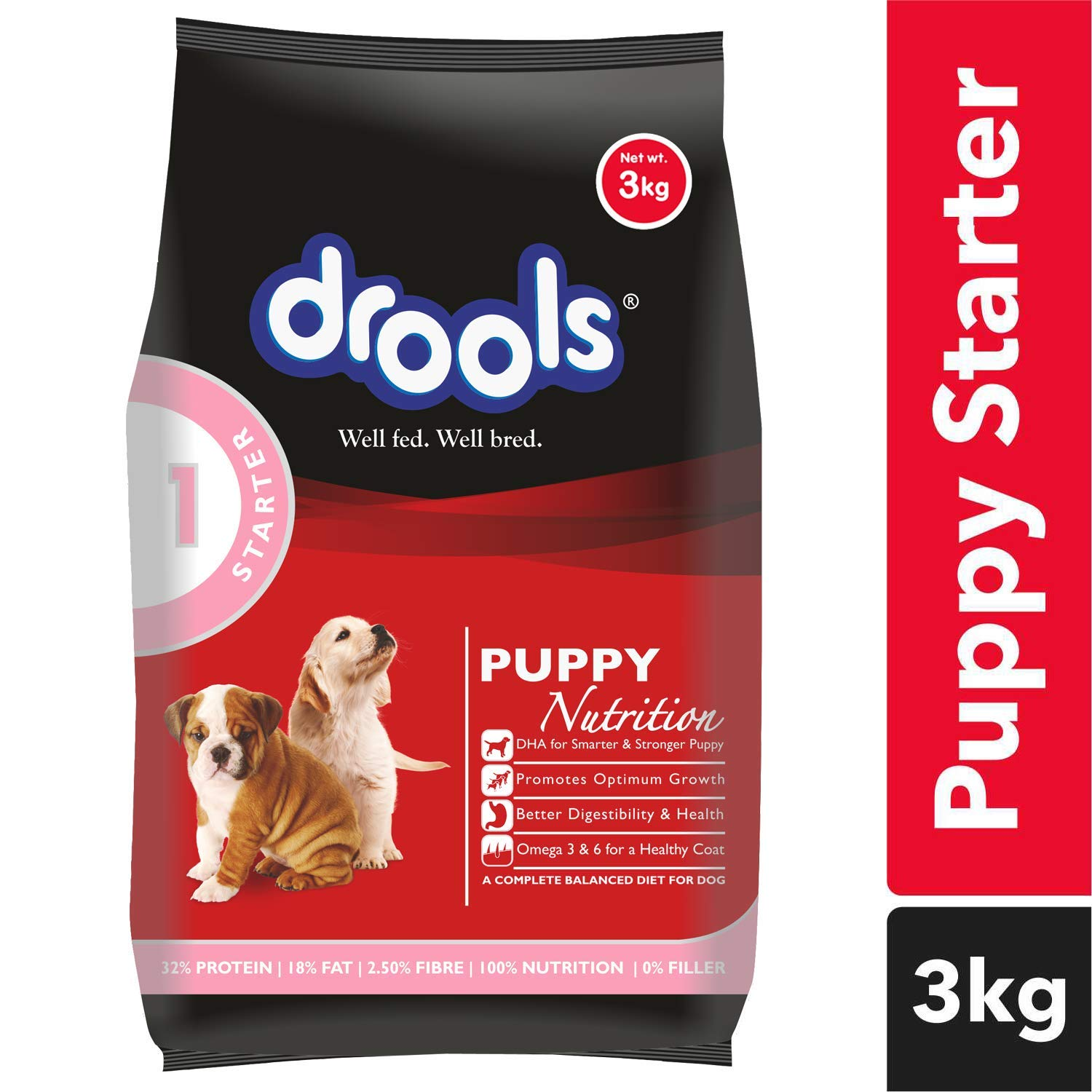 230445f7d9d0 Drools Puppy Starter Dog Food, 3kg: Amazon.in: Pet Supplies