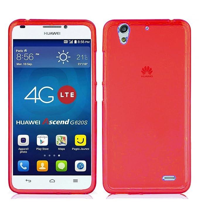 2 opinioni per TBOC Custodia Gel TPU Rossa per Huawei Ascend G620S in Silicone Ultra Sottile e