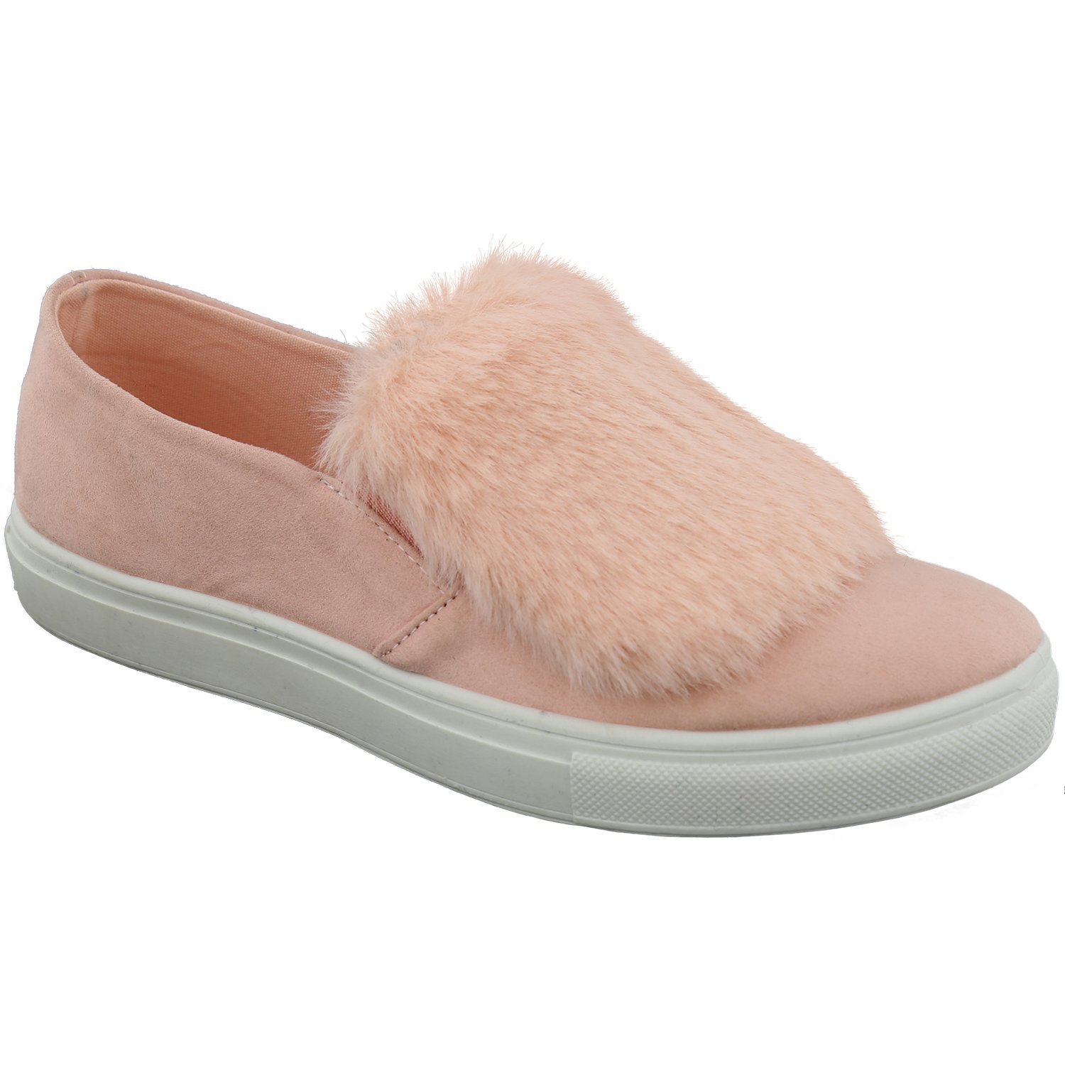 TravelNut Back to School Sale Kenna Classic Slip On Casual Skateboard Sneakers for Women (Assorted Colors) B073P3XM9D 7.5 M US|Marianne Pink