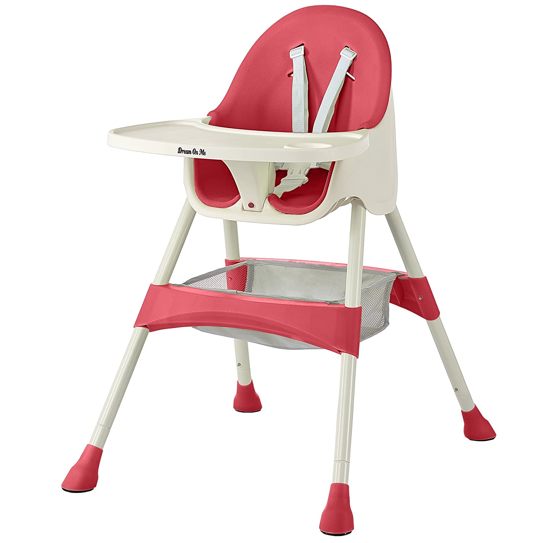 Dream On Me Jackson highchair, Raspberry