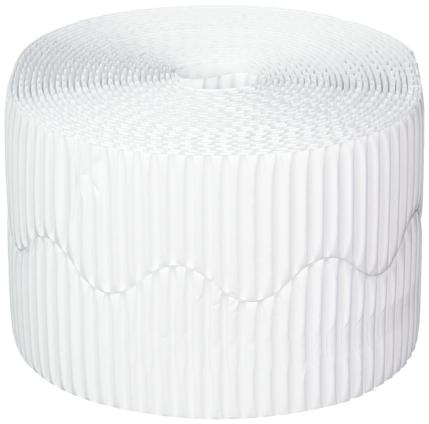 Pacon Bordette Decorative Bulletin Board Border Roll, 2.25'' by 50', White (37014)