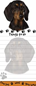 """""""Dachshund Magnetic List Pads"""" Uniquely Shaped Sticky Notepad Measures 8.5 by 3.5 Inches"""