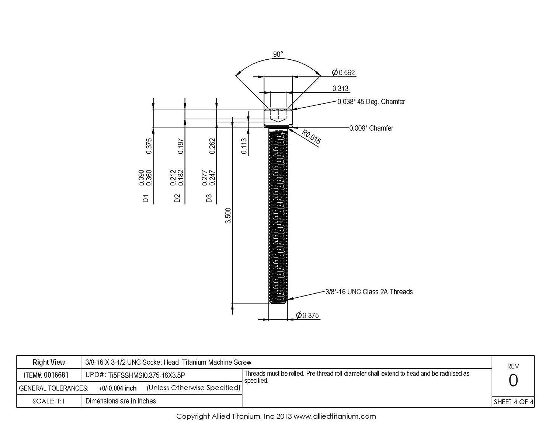 B00UILPUCY Allied Titanium 0016681, (Pack of 2) 3/8-16 X 3-1/2 UNC Socket Head Machine Screw, Grade 5 (Ti-6Al-4V) 617Oq1CsZGL