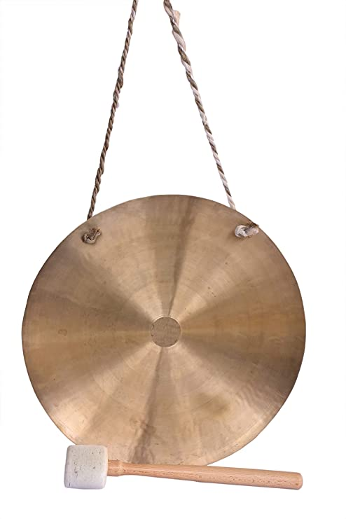De Kulture Handmade Pure Brass Gong Ghanta with Mallet ...