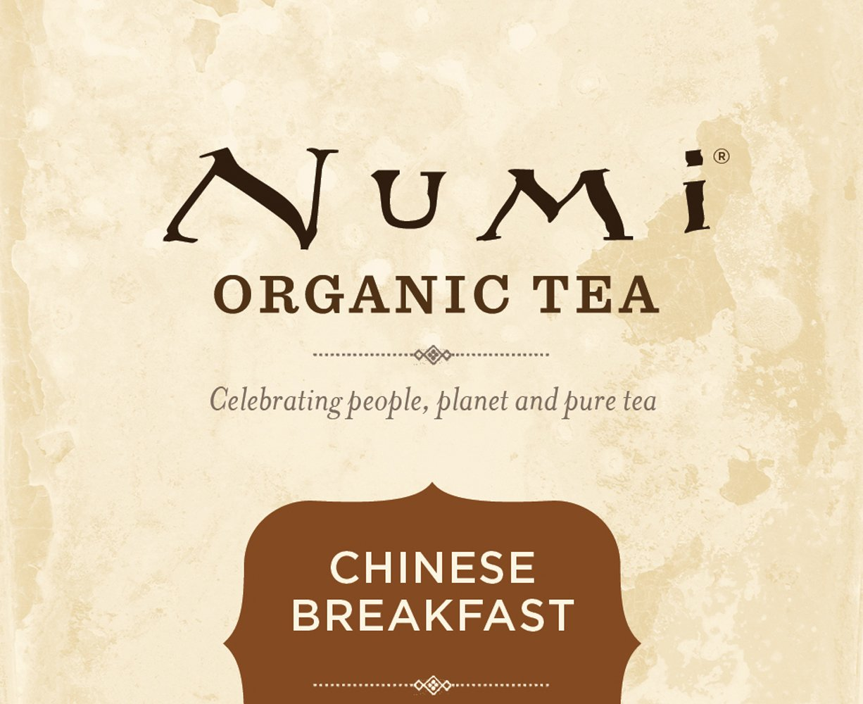 Amazon Numi Organic Tea Chinese Breakfast Full Leaf Black 18 Count Bags Pack Of 3 Grocery Gourmet Food
