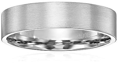 Mens 10k White Gold 6mm ComfortFit Plain Wedding Band with Soft