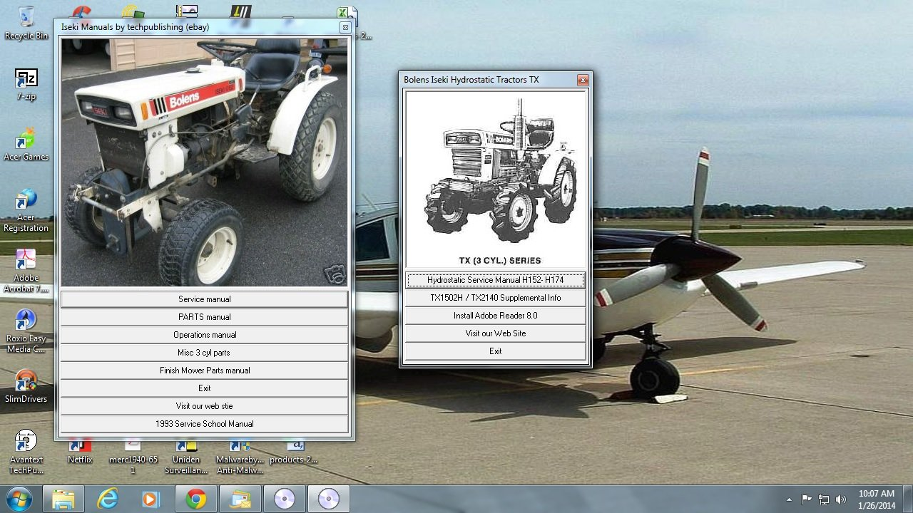 Amazon com : Bolens Iseki Tractor Service Repair Library