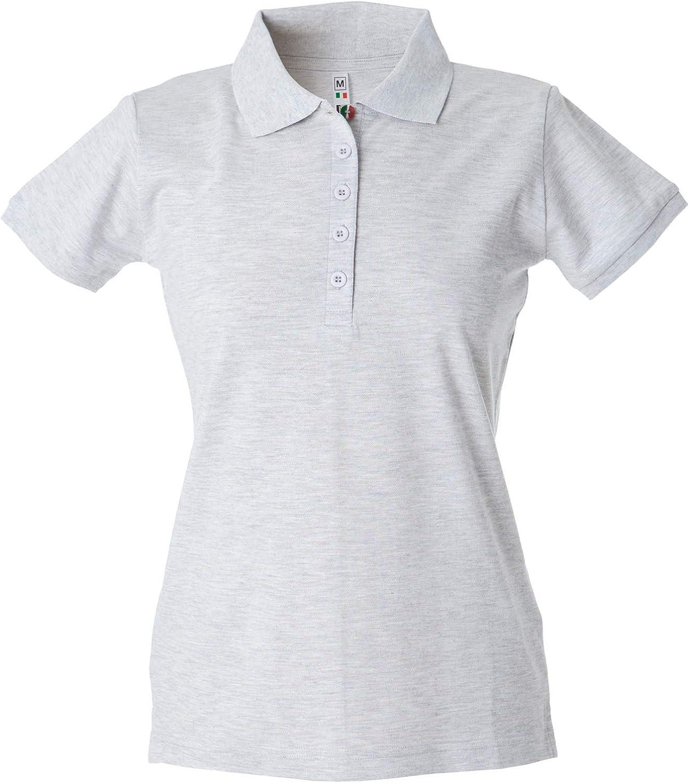 CHEMAGLIETTE Polo da Lavoro Donna T-Shirt Manica Corta con Colletto Cotone Pique JRC Colombia