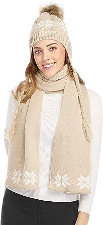 Womens Gloves Winter Warm Fairisle Gloves Snowflake  Ladies Design Knitted Soft