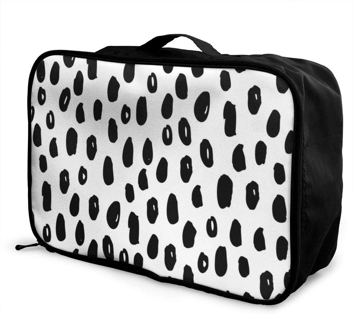 Yunshm Fashion Modern Brush Point Personalized Trolley Handbag Waterproof Unisex Large Capacity For Business Travel Storage