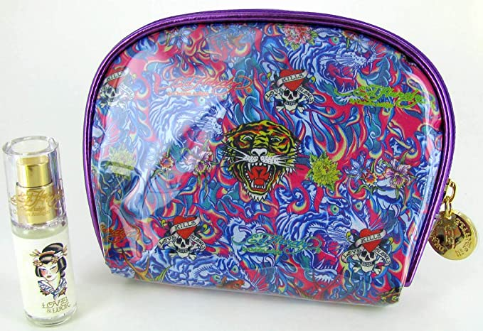978ea928f0aa Image Unavailable. Image not available for. Colour  Ed Hardy Christian  Audigier Perfume Cosmetic Bag Set