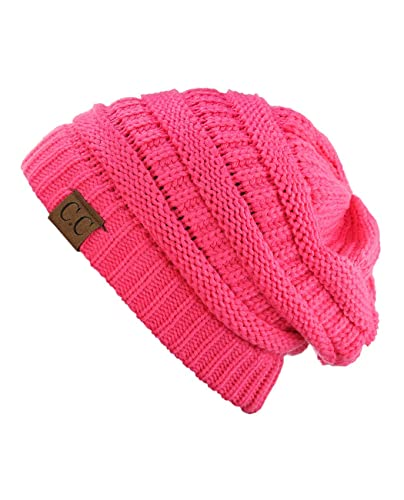 Trendy Warm Chunky Soft Stretch Cable Knit Beanie