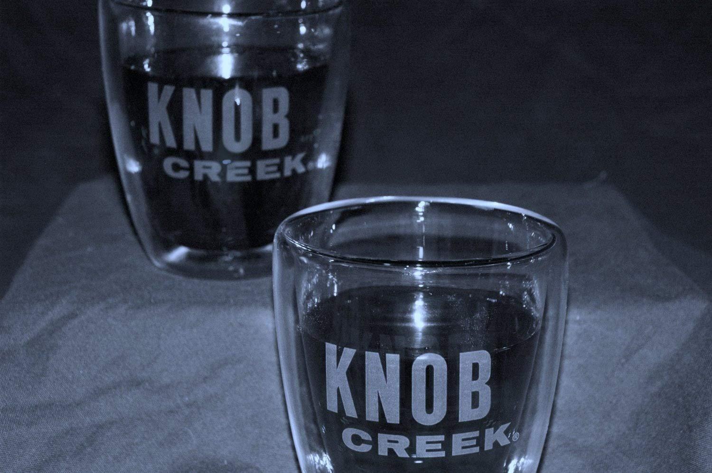 Knob Creek Silver Rimmed Rocks Glasses  | Set of 2 Glasses