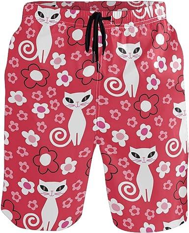 Maryland Flag Owl Mens Printing Board//Beach Shorts Slim-Fit Beachwear with Pockets