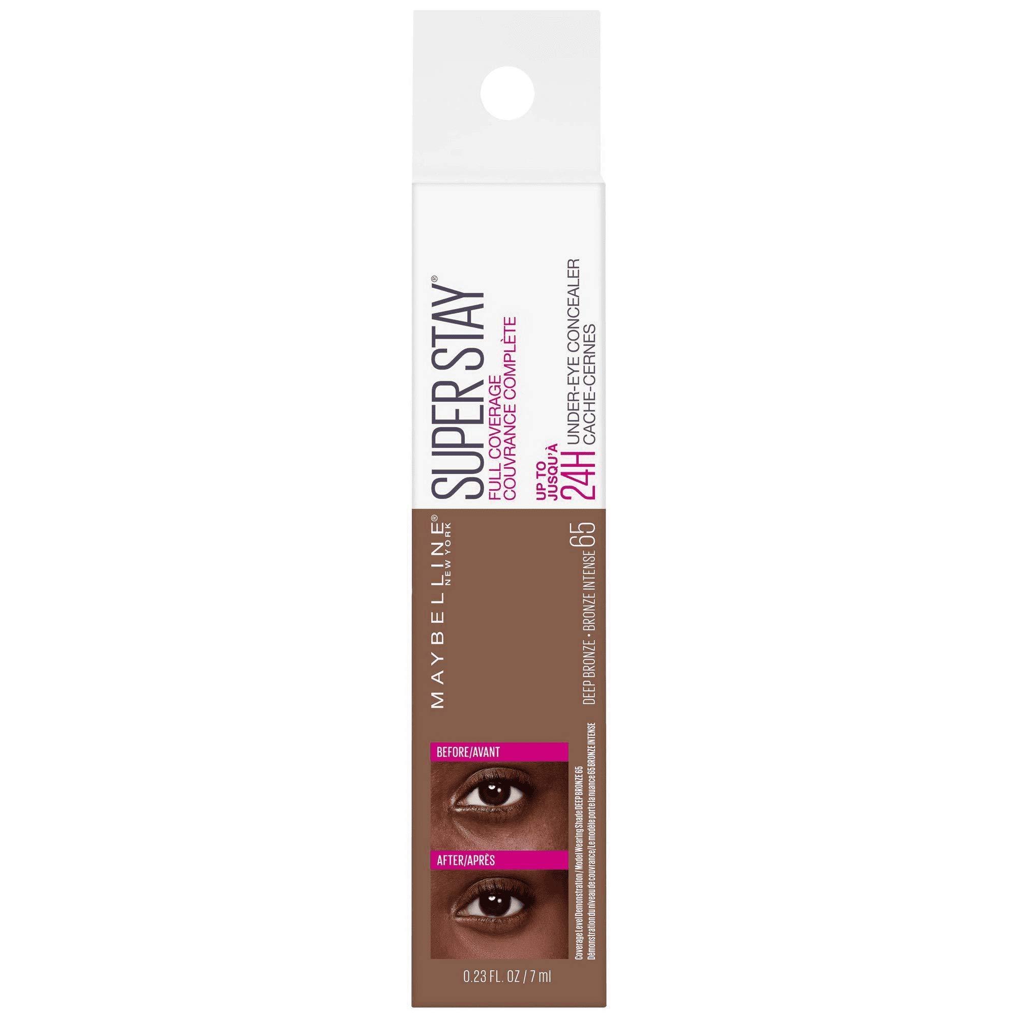 Super Stay Full Coverage Long Lasting Under-Eye Concealer, 65 Deep Bronze, 0.23 fl oz (Pack of 2)