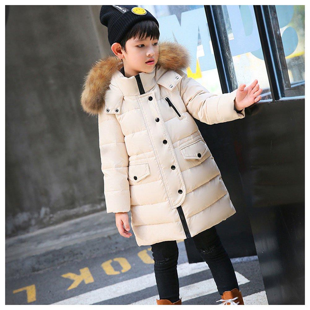 LSERVER-piumino invernale UNISEX giacca bambino bambina impermeabile  piumino lungo cappuccio cappotto bambina snowsuit per 604af59d638c