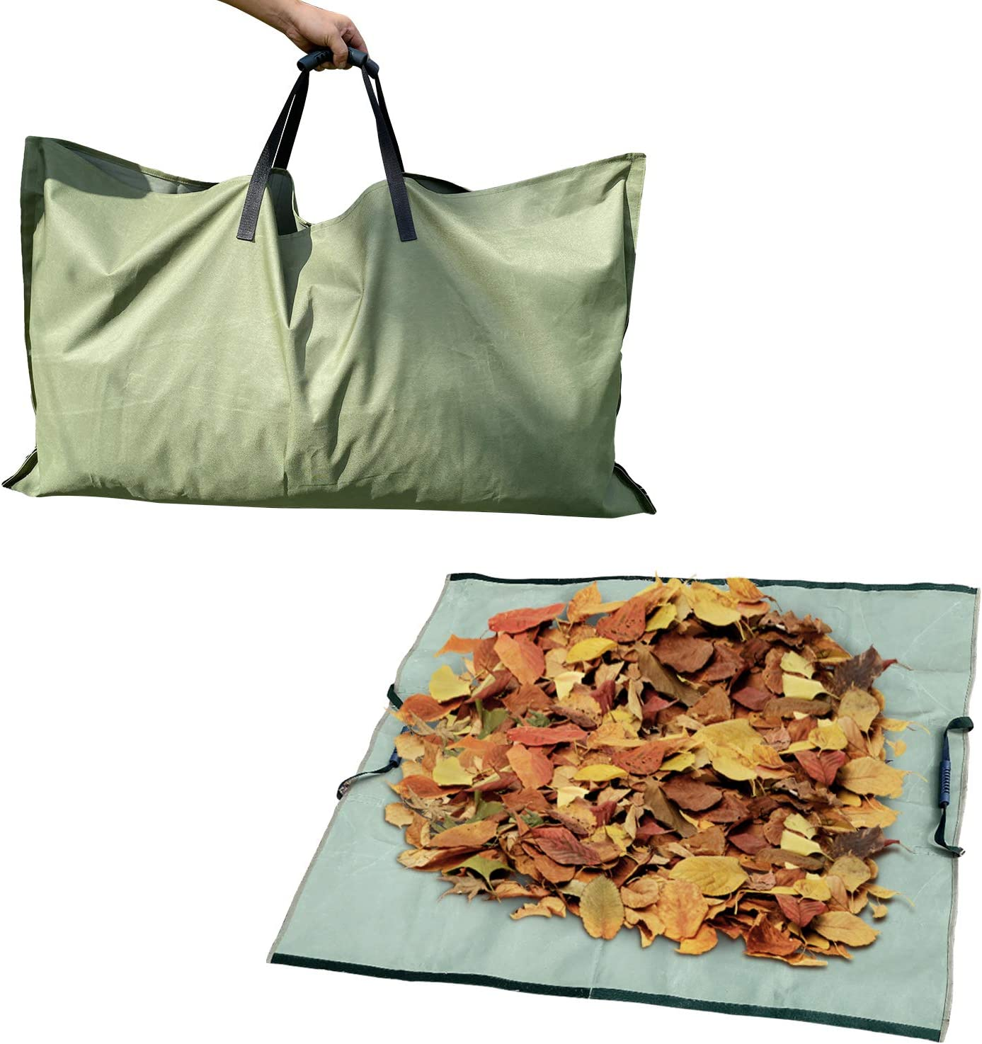 REPUBLIC SUN Leaf Bag, Garden Yard Lawn Pool Garden Leaf Waste Bags Oxford Cloth for Collecting Leaves - Reusable Heavy Duty Gardening Bags