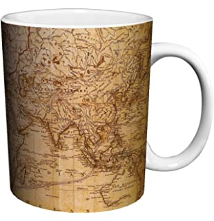 Amazon adventure awaits 15 oz mug world map coffee mug travel world map antique vintage old style decorative educational porcelain gift coffee tea cocoa sciox Image collections